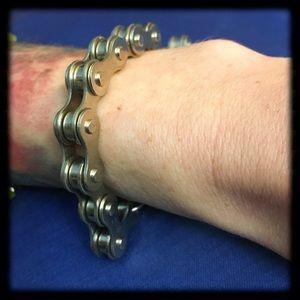 Jewelry - Metal bike chain bracelet